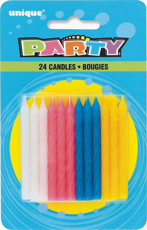24 Twist Happy Birthday Candles