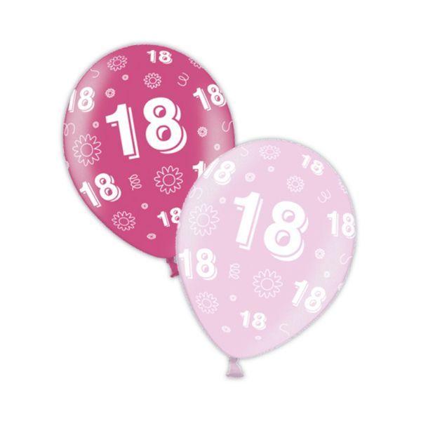 packet of 25 x 11 18th birthday fab fuchsia pretty pink printed