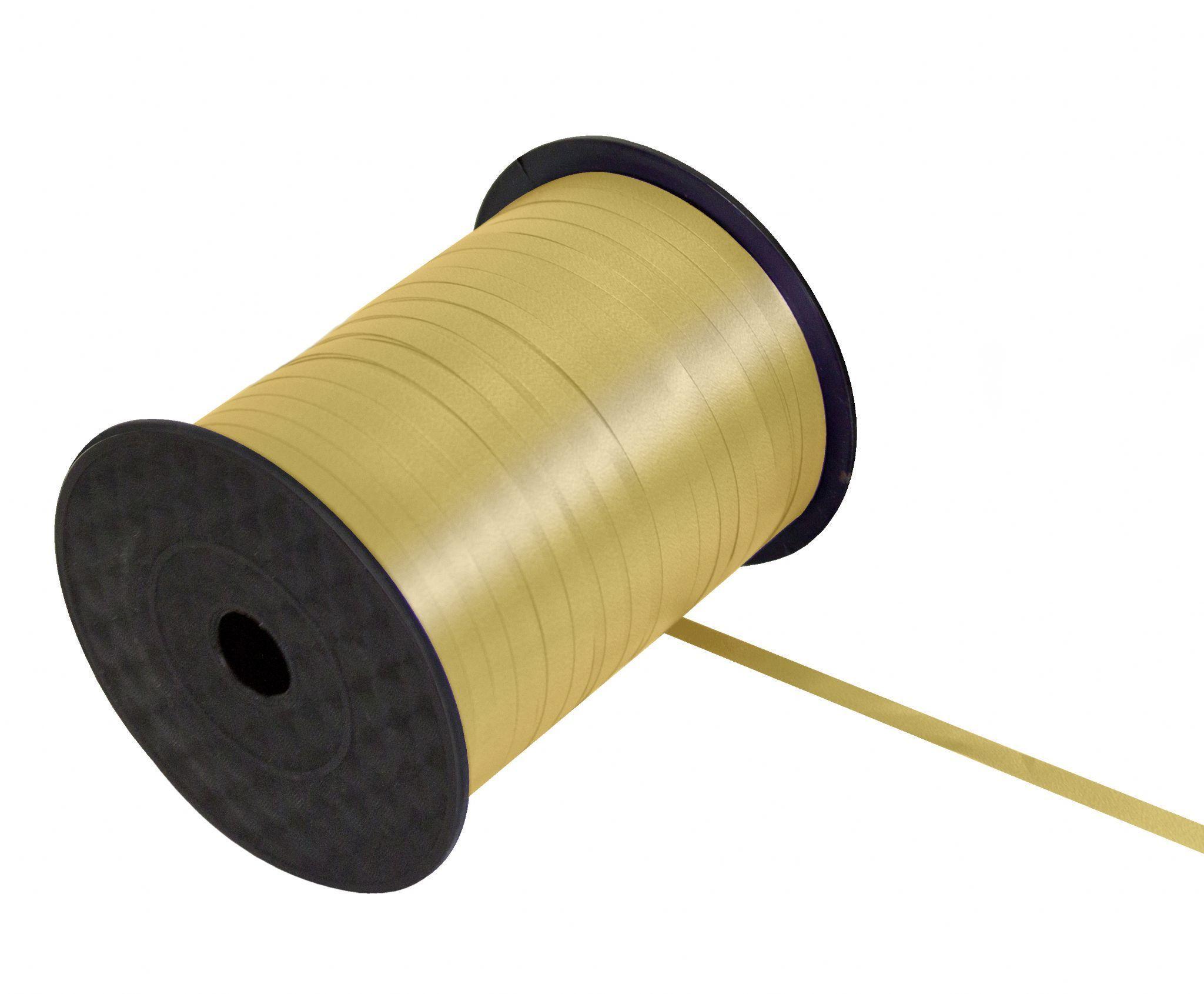 5MM x 500M Curling Ribbon Gold