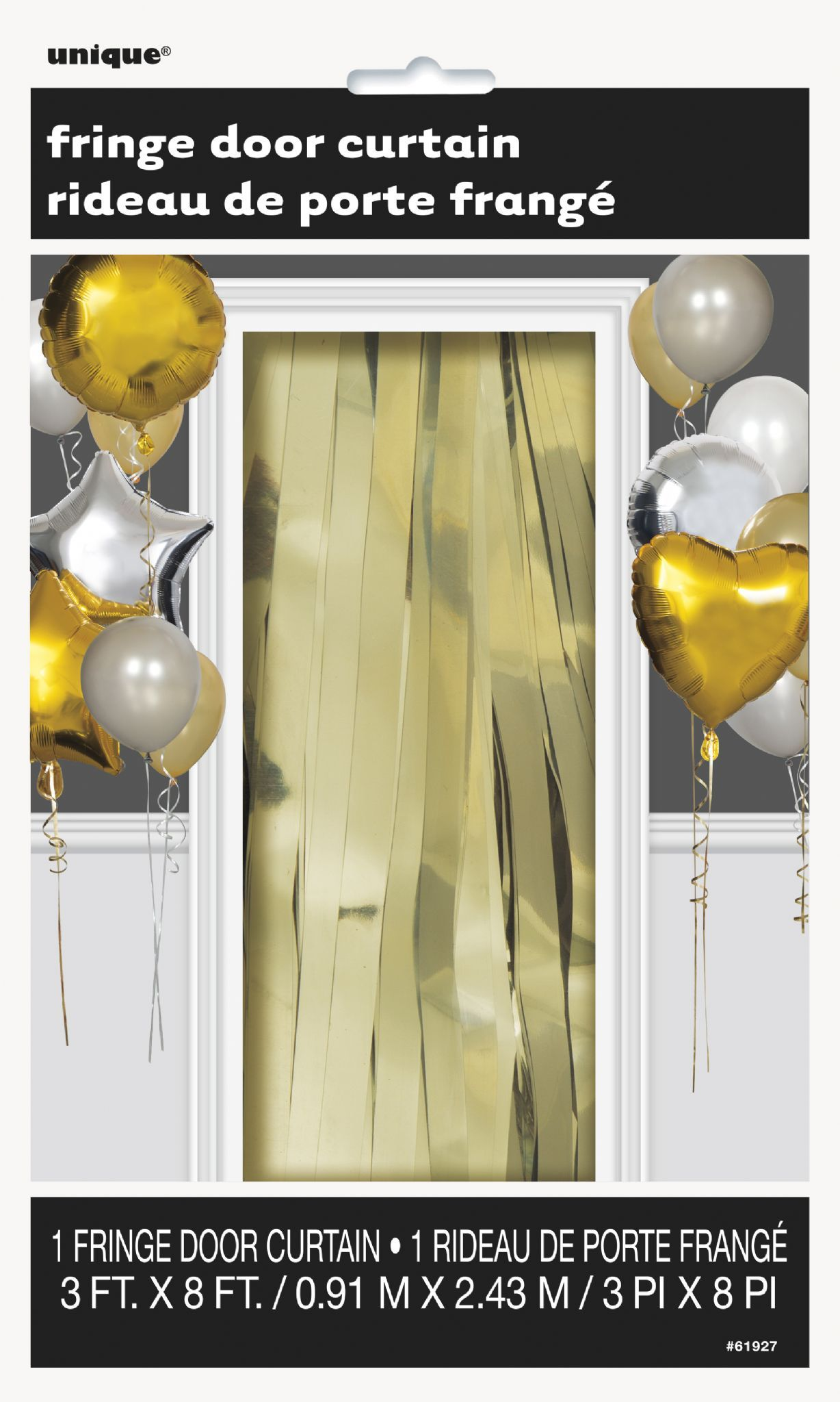 Gold Fringe Door Curtain 3 X 8