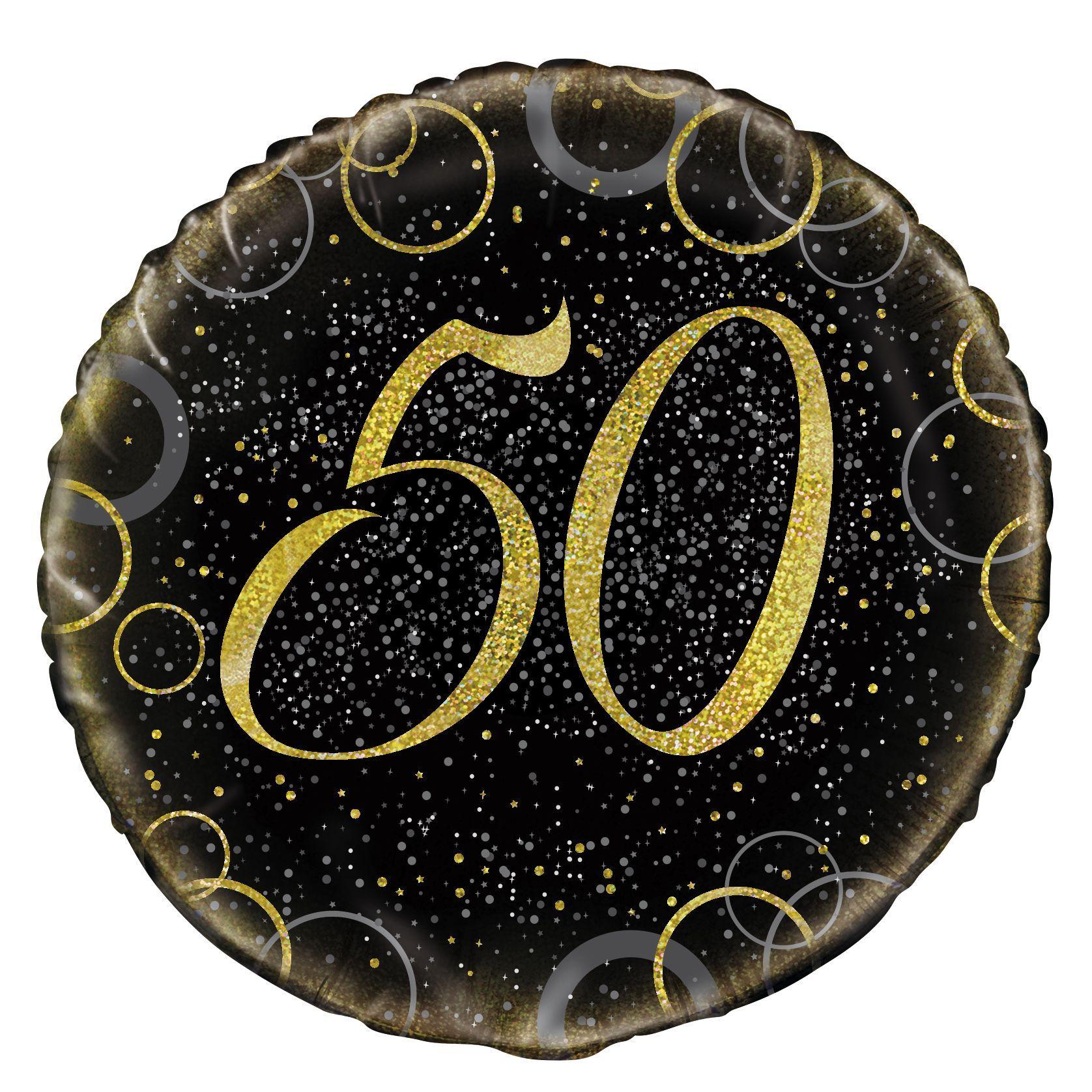 Gold Glitz Prism Happy 50th Birthday Foil Balloon