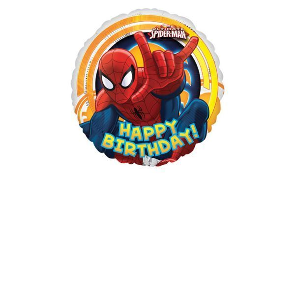 Ultimate Spider Man Circle Happy Birthday Foil Balloons